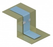 Aluminium Flat Cable Clamp with Adhesive Base