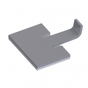 Aluminum Clamp on Adhesive Base - RAK