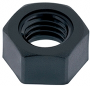 Black Hexagonal Nuts