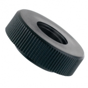 Black Knurled Nuts